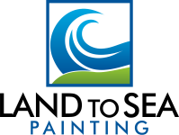 Land to Sea Painting Sticky Logo
